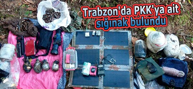 Trabzon'da PKK'ya ait sığınak bulundu