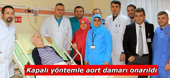 Kapalı yöntemle aort damarı onarıldı