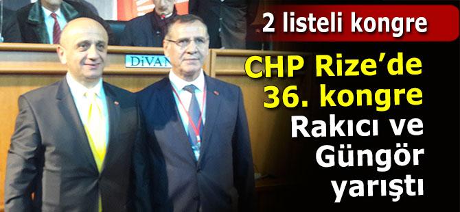 CHP Rize 36. İl Kongresinde 2 liste yarıştı