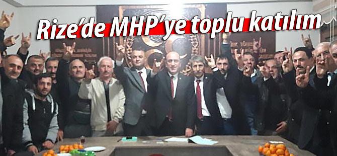 Rize'de MHP'ye toplu katılım