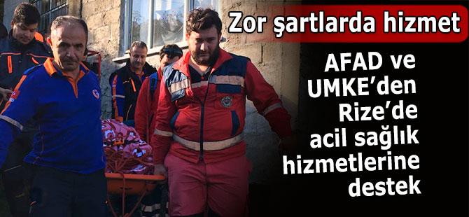 Obez hasta UMKE ve AFAD desteğiyle hastaneye ulaştırıldı