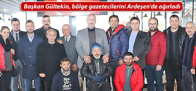 Başkan Gültekin, bölge gazetecilerini Ardeşen'de ağırladı