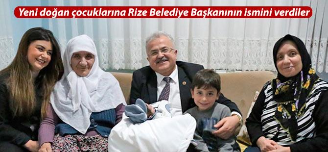 Yeni doğan çocuklarına Rize Belediye Başkanının ismini verdiler