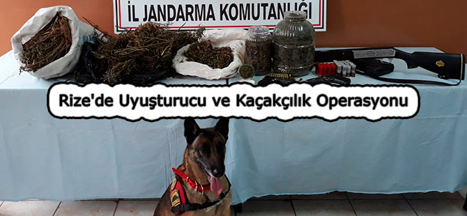 Rize'de Uyuşturucu ve Kaçakçılık Operasyonu