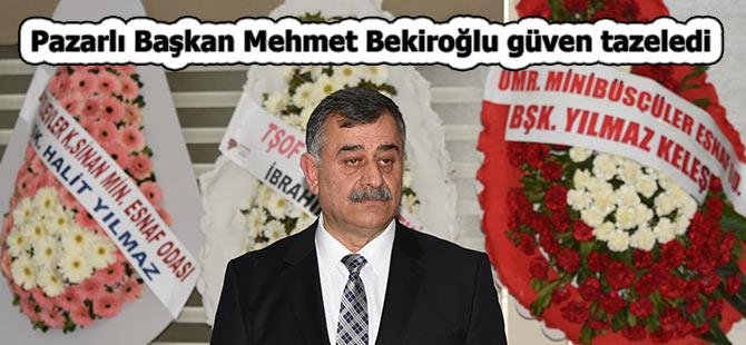 Pazarlı Başkan Mehmet Bekiroğlu güven tazeledi