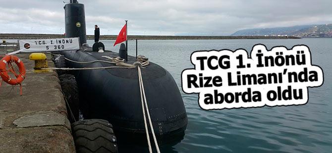 TCG 1. İnönü, Rize Limanı'nda aborda oldu