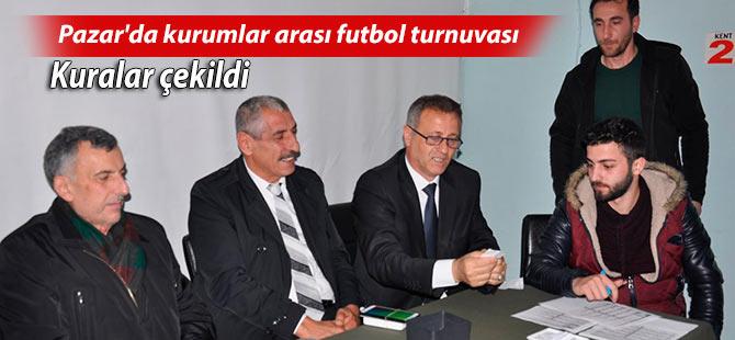 Pazar'da kurumlar arası futbol turnuvası başlıyor