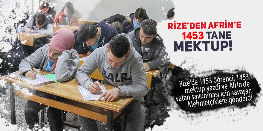 Rize'den Afrin'deki Mehmetçiğe 1453 mektup!