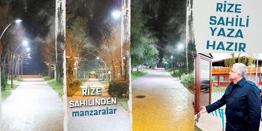 RİZE SAHİL PARKI, YAZA HAZIR