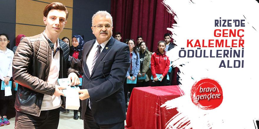 Rize'de genç kalemler ödüllerini aldı