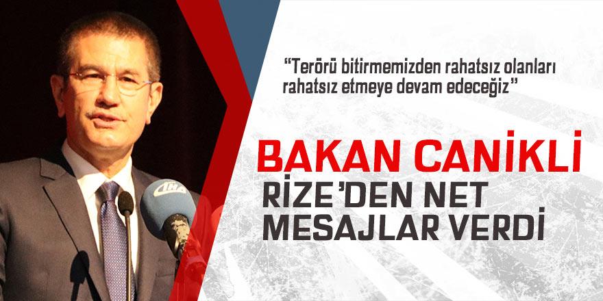 Milli Savunma Bakanı Nurettin Canikli Rize'de