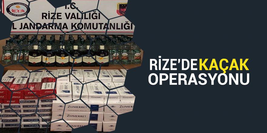Rize'de jandarmadan kaçak operasyonu