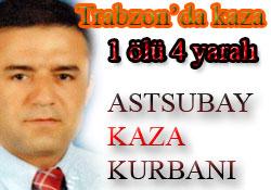 Trabzon'da kaza: 1 ölü 4 yaralı
