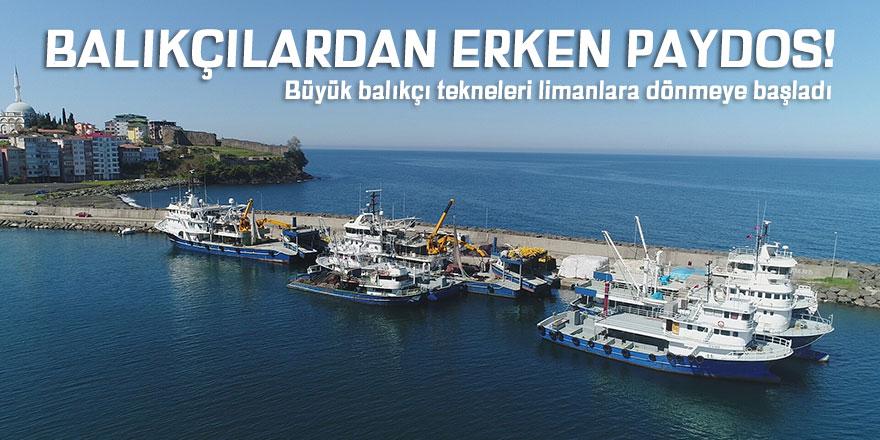 Balıkçılar erken paydos etti!