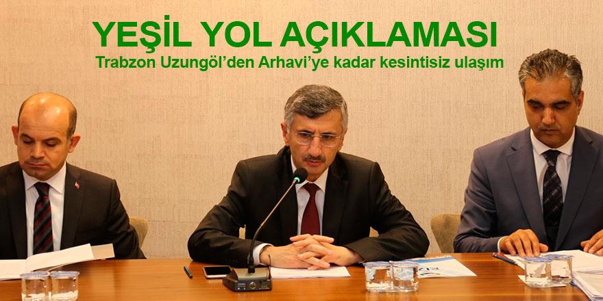 Trabzon Uzungöl'den Arhavi'ye kadar kesintisiz ulaşım