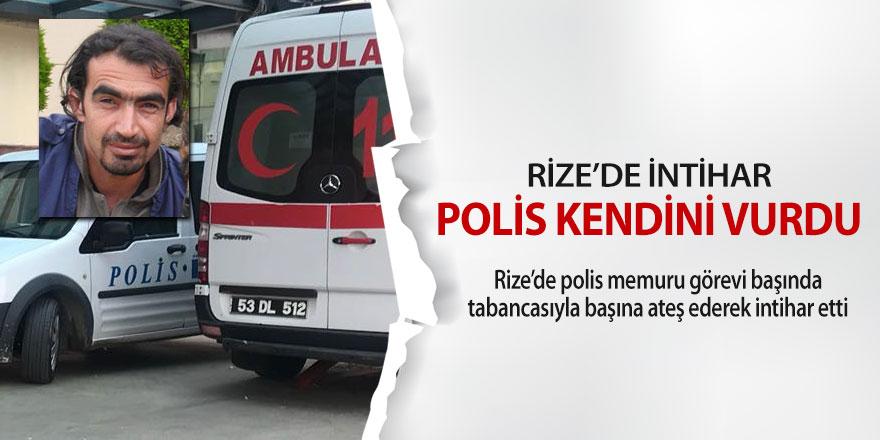 Rize'de polis memuru odasında intihar etti