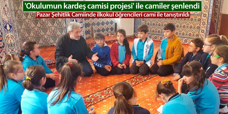 Rize'de 'Okulumun kardeş camisi projesi' ile camiler şenlendi