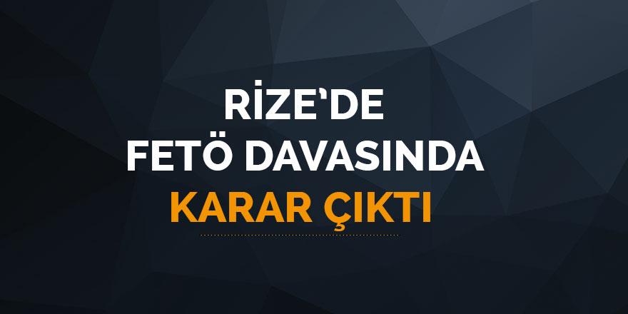 Rize'de FETÖ davasında karar