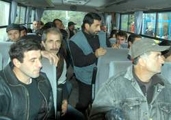 Kaçak Gürcü işçilere sınırdışı