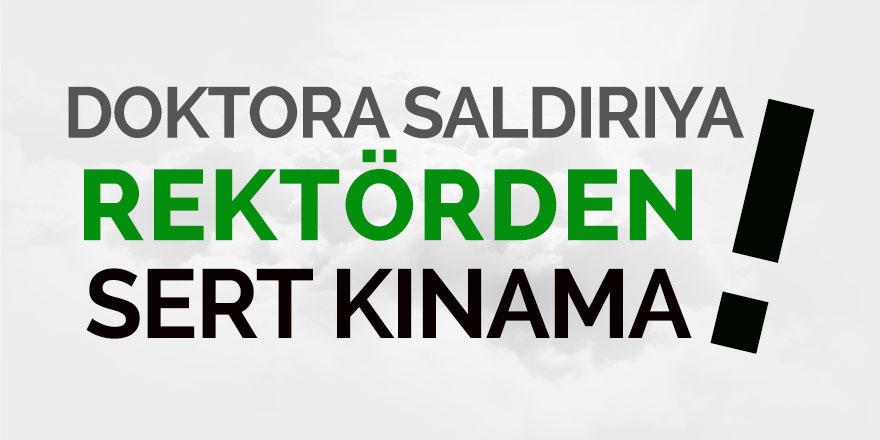 Rektör Hüseyin Karaman 'Kınama Mesajı' yayınladı!