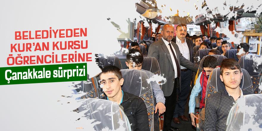 Belediyeden Kur'an Kursun öğrencilerine Çanakkale sürprizi