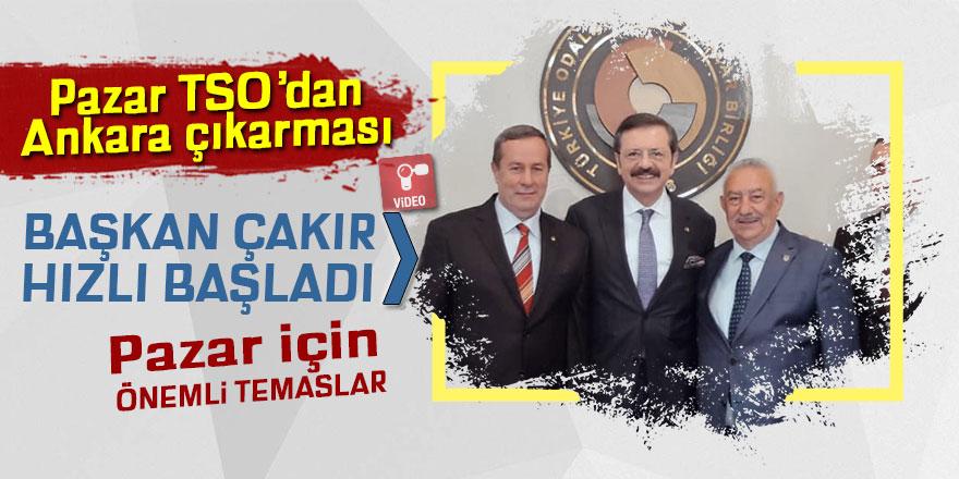 Pazar TSO Başkanı Neşet Çakır hızlı başladı