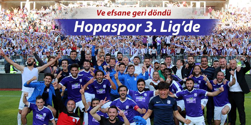 Hopaspor 3. Lig'e yükseldi
