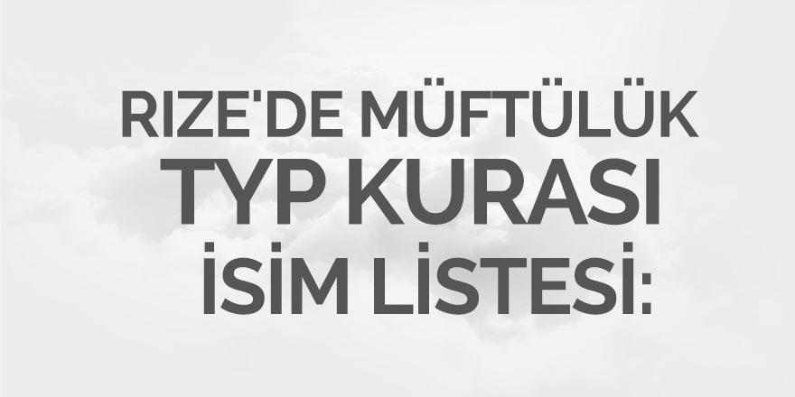 Rize'de Müftülük TYP Kurası İsim Listesi
