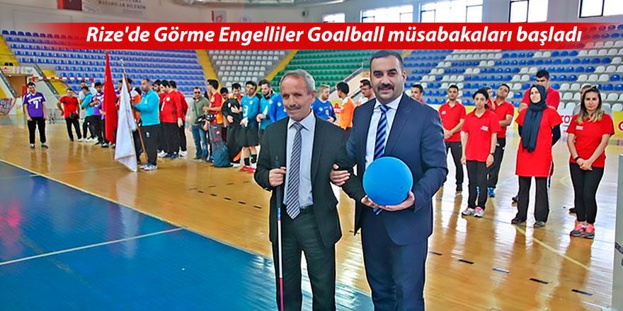 Rize'de Görme Engelliler Goalball müsabakaları başladı