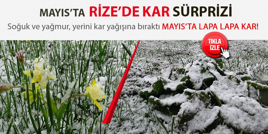 Rize'de Mayıs ayının ortasında lapa lapa kar yağdı!