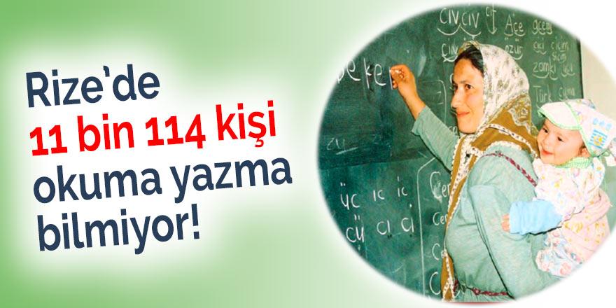 Rize'de 11 bin 114 kişi okuma yazma bilmiyor!
