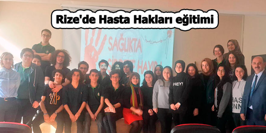 Rize'de Hasta Hakları eğitimi