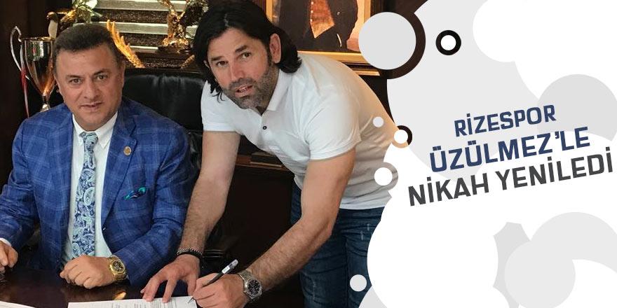 Rizespor teknik direktör İbrahim Üzülmez ile nikah tazeledi