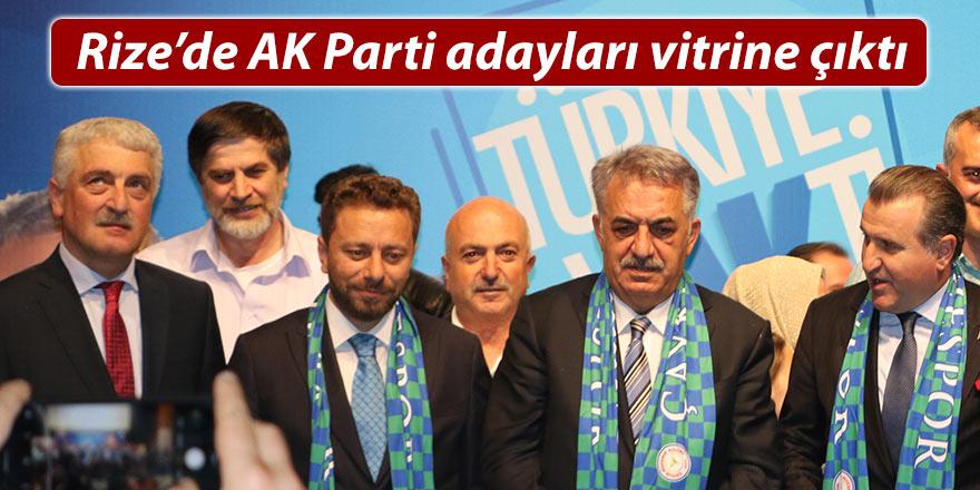 AK Parti Rize'de adaylarını tanıttı