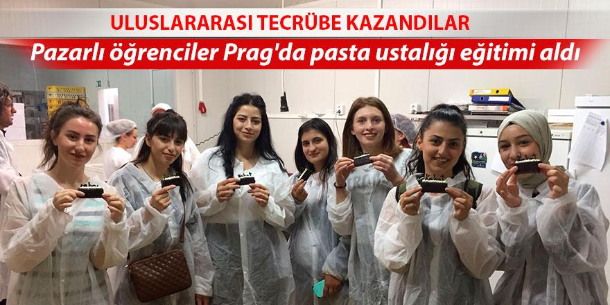 Pazarlı öğrenciler Prag'da pasta ustalığı eğitimi aldı