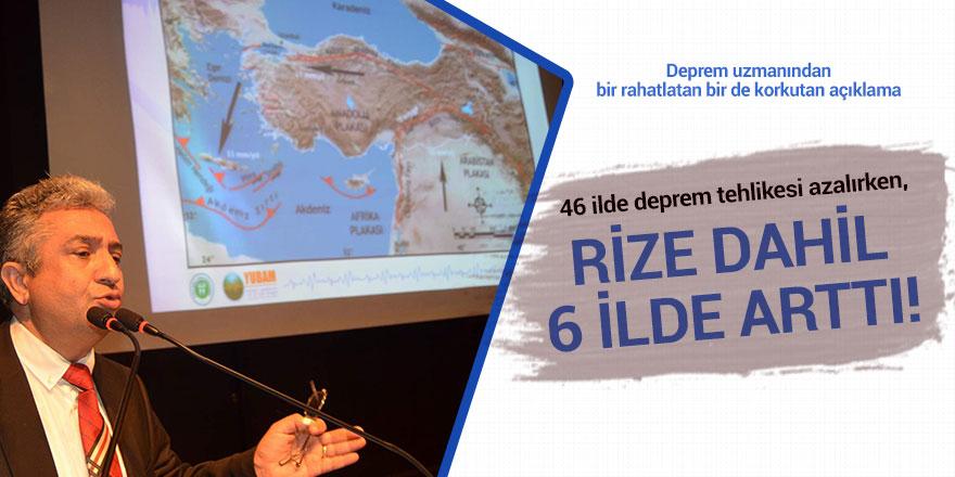 46 ilde deprem tehlikesi azalırken, Rize dahil 6 ilde arttı!