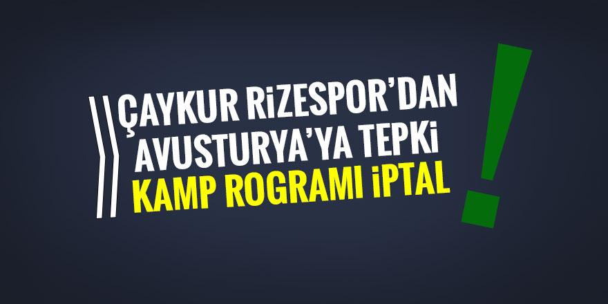 Çaykur Rizespor'dan, Avusturya'ya tepki