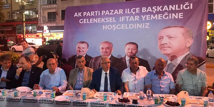 AK Parti Pazar'daki geleneksel iftar programında kaynaştı