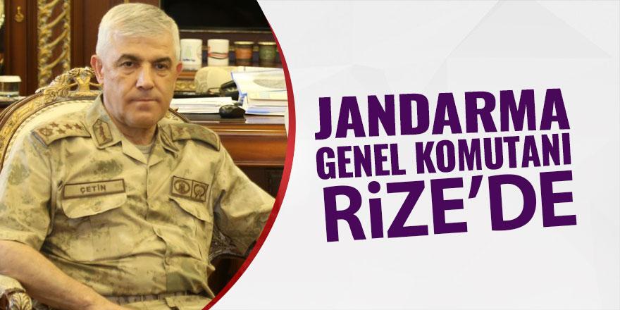 Jandarma Genel Komutanı Rize'de