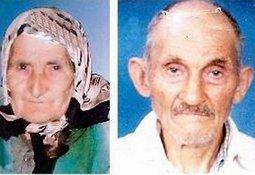 Para için yaşlı çifti katlettiler