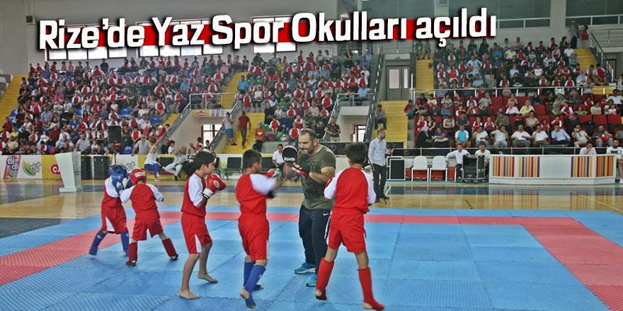 Rize'de Yaz Spor Okulları açıldı