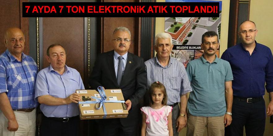 7 ayda 7 ton elektronik atık toplandı!