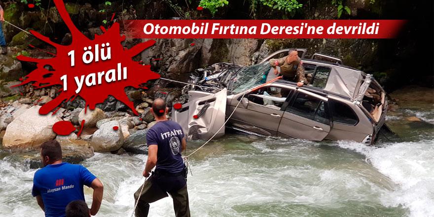 Otomobil Fırtına Deresi'ne devrildi: 1 ölü, 1 yaralı