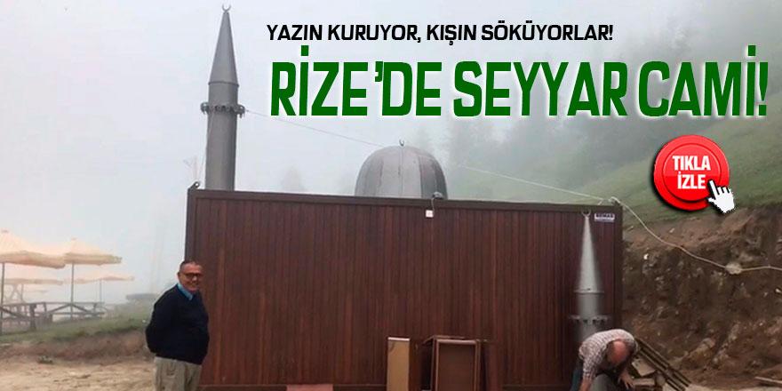 Rize'de seyyar cami görenleri şaşırtıyor