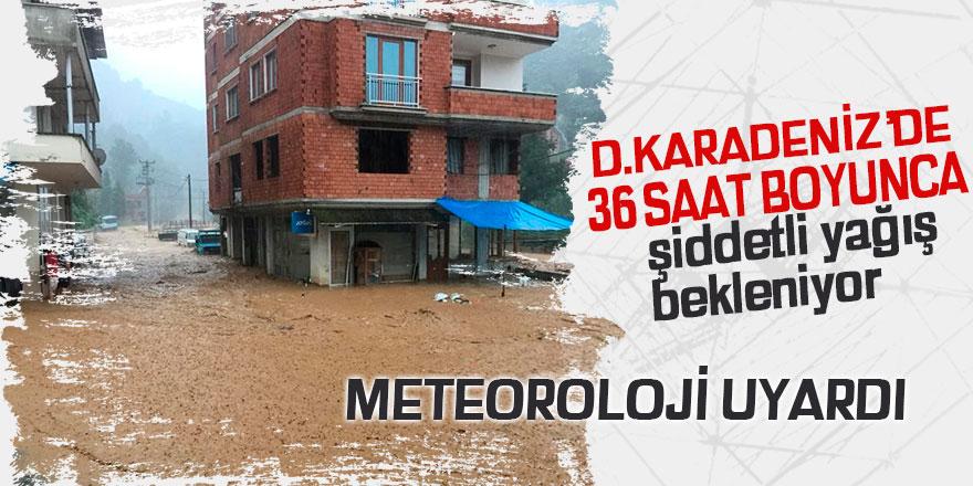 Doğu Karadeniz için 36 saat şiddetli yağış uyarısı