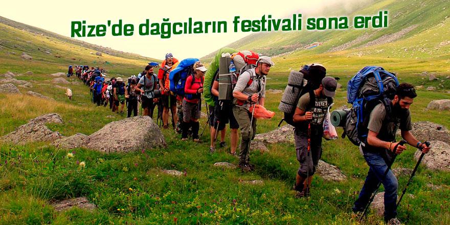 Rize'de dağcıların festivali sona erdi