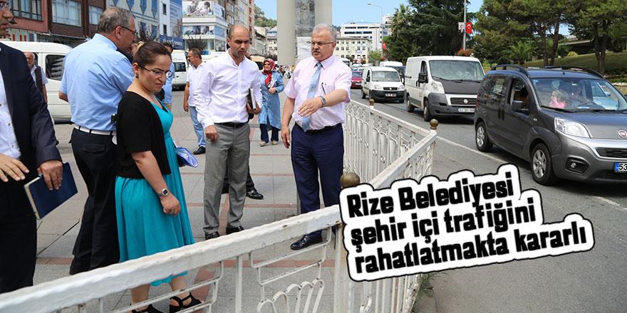 Rize Belediyesi, şehir içi trafiğini rahatlatmakta kararlı