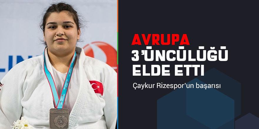 Rizespor Kulübü'nün judo sporcusundan milli başarı