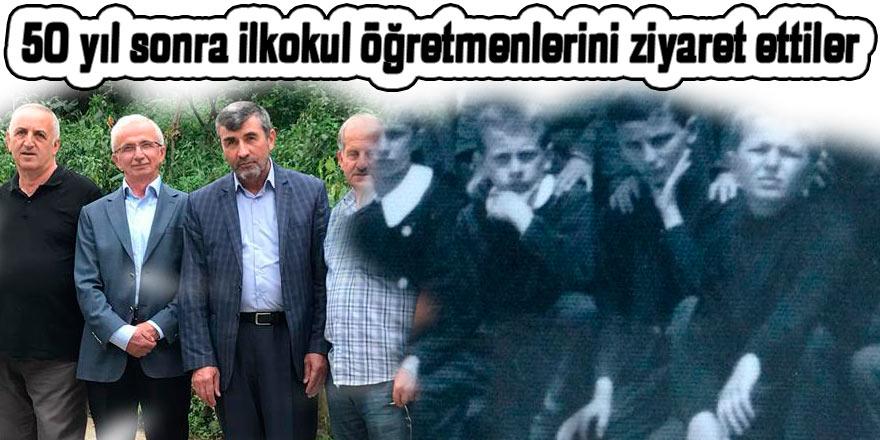 50 yıl sonra ilkokul öğretmenlerini ziyaret ettiler