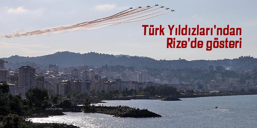 Türk Yıldızları'ndan Rize'de gösteri